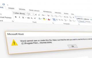 Word Normal.dotm error