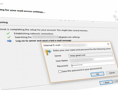 Outlook can't connect to Gmail – Outlook Rejects Gmail Password