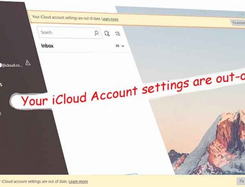 How to fix your iCloud account settings are out of date in Mail app